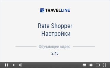Rate Shopper. Настройки.